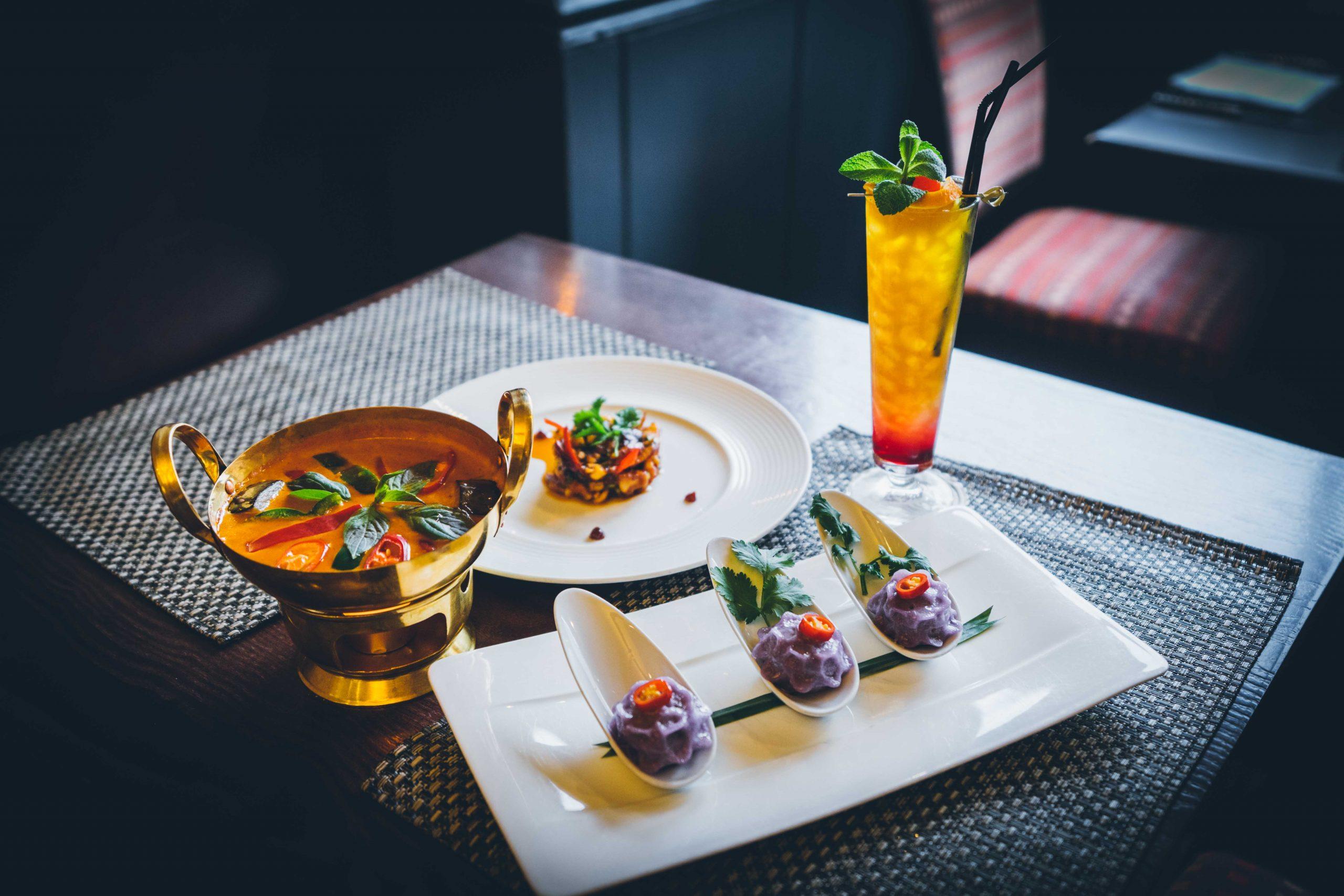 Image of food and drink at Thai Restaurant in Edinburgh, Scotland